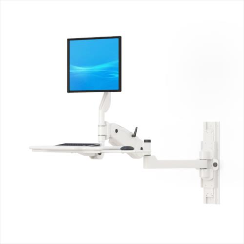 extended monitor and keyboard arm wall mount